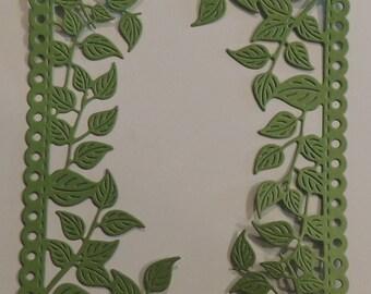 Leaf Frame Die Cut Card Front for A2 Card