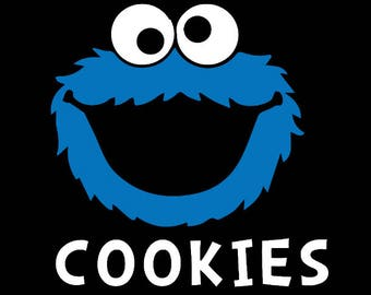 Cookie Monster Onesie/Toddler/Child/Youth/Adult Shirts