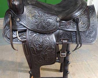 A Western Saddle Barstool
