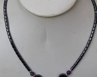 Vintage Hematite Necklace choker