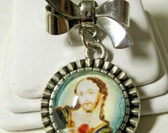 Sacred heart pin/brooch - BR08-411