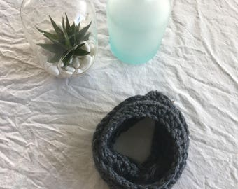 SALE!! Little girls gray infinity scarf