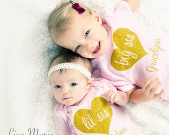 Big Sister Little Sister Outfits, Little Sister Outfit, Big Sister Gift, Big Sister Shirt, Little Sister Bodysuit Matching Sister Outfits