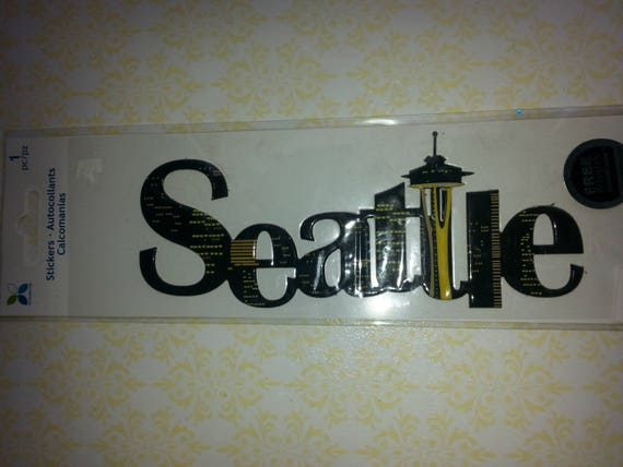 Seattle Puffy Stickerspace Needlescrapbook Stickerword Sticker