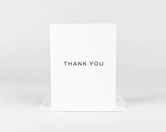 Thank You Card | Minimal Thank You | Business Stationery