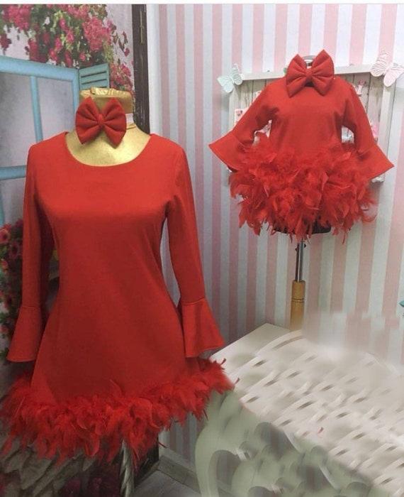 Doughter Dress Set Doughter Set Clothing Baby Dress Woman Consept Mum 1st Birthday and Birthday Mum Party Clothing Girl Birthday Set nX1xvWqA