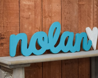 Nolan Baby Name Wooden Sign -  Nursery Decor - Baby name signs for baby showers and home decor