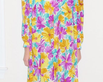 Vintage 70's Mod Hippie Caftan Lounging Dress by David Brown California Size XS