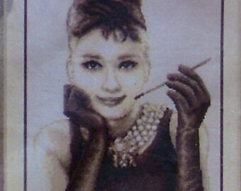 Audrey Hepburn Vervaco cross stitch kit
