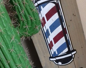 Barber shop - Barber pole / paint vintage US - customizable