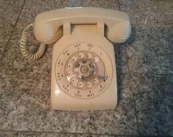 Vintage Bell Rotary Telephone 500DM Beige