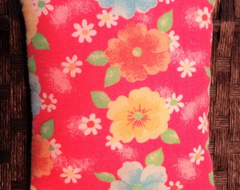 Hawaiian Flower Rice Bag , Heating Pad, Microwave Hot / Cold Pack, Heat Therapy, Rice Bag, Natural Pain Relief, Idea for Women