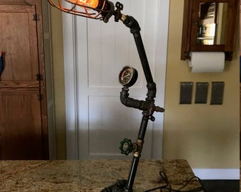 Steampunk Lamp Upcycled OOAK