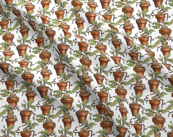 Mandrake Fabric - Baby Mandrake Plants By Versodile - Mandrake Botanical Plant Cotton Fabric By The Yard With Spoonflower