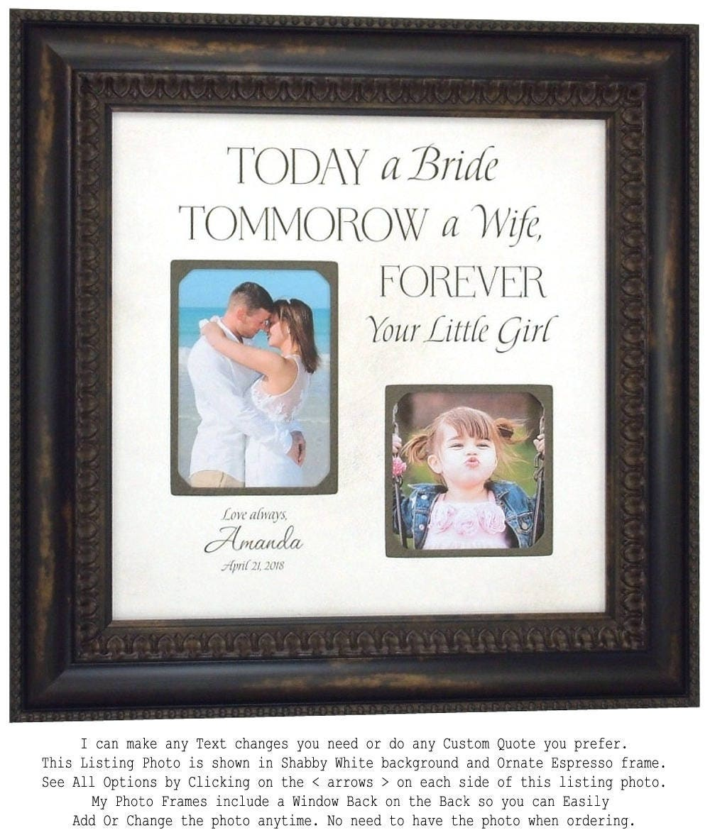 Father Of The Bride Dad Gift Frame Personalized Picture Frame