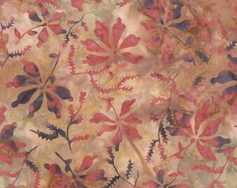 MODA Color Daze Batiks Blush Orange Pink Blue Floral Batik Fabric BTY