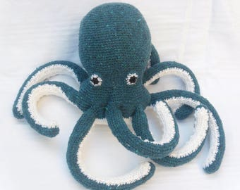 Plush squid OCTOPUS crochet