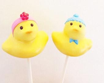 Duck cake pops
