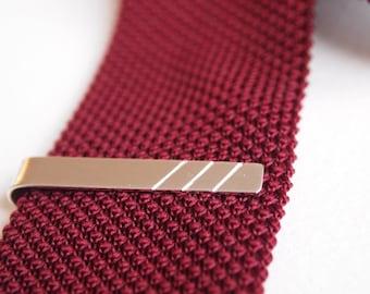 Personalised  Minimalist Silver Tie Clip