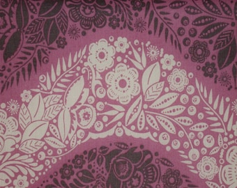 "1 Yard 54/55"" Wide LITTLE FOLKS VOILE Village Path Lilac Purple Mauve Anna Maria Horner Flower Floral Waves Quilting Sewing Free Spirit"