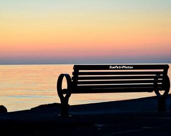 Peaceful Easy Feeling, Fine Art Photograph, Sunset Photos, Port Dalhousie, Landscape Photography, Romantic Decor, Beach Prints, Relaxing