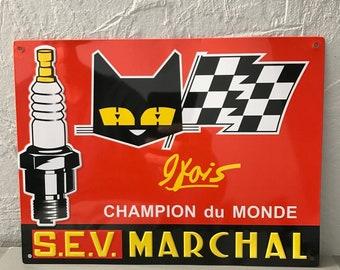 MARCHAL METAL SIGN vintage garage car 1804171