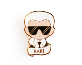 Karl Lagerfeld Brooch Pin