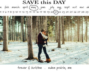 Printable Save The Date Calendar Photo