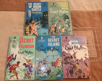 The Secret Series by Enid Blyton Full set of early 1970 Armada paperbacks