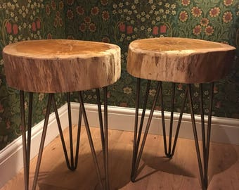 Solid oak top stool