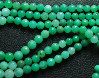 14'' Super Finest, Hard to Find Quality,  Natural Chrysoprase Faceted Round Rondelles, Size 9-5mm