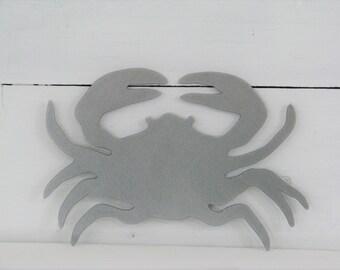 Crab Raw Steel Metal Wall Artwork Sea Life Nautical Beach House Decor