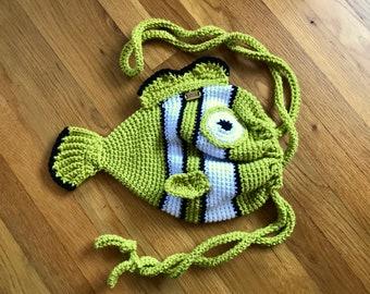 Drawstring Fish Purse