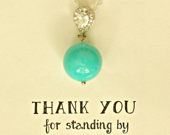 Turquoise Bridesmaid Necklace, Turquoise Neclace for Bridesmaids, Turquoise Bridal Necklace, NK1