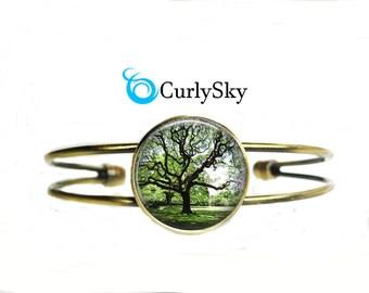 Olive Green Bracelet Forest Tree Bracelet Olive Forest Bracelet Forest Green Bangle Forest Bracelet Forest Tree Bangle Forest Tree Bangle