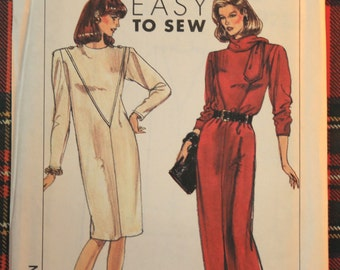 9285 Simplicity Size 10-16 Bust 32 1/2 Vintage 1989 Dress  Sewing Pattern