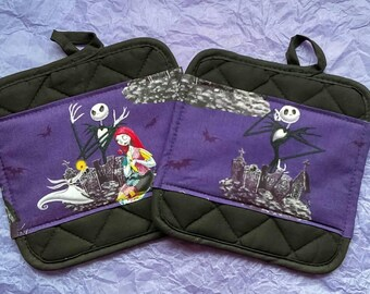Nightmare Before Christmas Kitchen Pot Holders - Hot Pads