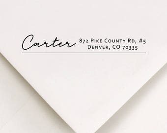 Address Stamp For Envelopes - Addressing Gift Stamp - Return Label Stamp - Address Invitation Stamp - Personalized Stamped Address  (440)