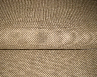 """1 yard (36"""" x 64"""" wide) Unbleached LINEN Rug FOUNDATION FABRIC / Backing for Rug Hooking"""