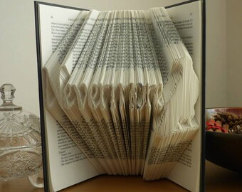 Nevermore The Raven, Poe Folded Book Art **Pattern** PDF and instructions/ tutorial  Book Folding