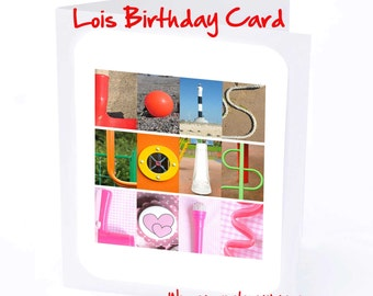 Lois Personalised Birthday Card