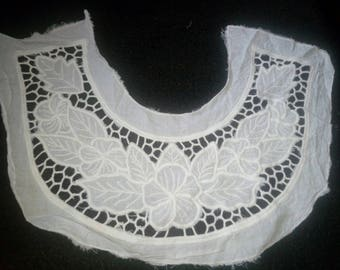 BIB embroidered collar APPLIQUE to sew