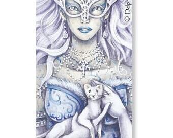 Marque-pages - La reine des neiges - Illustration Delphine GACHE