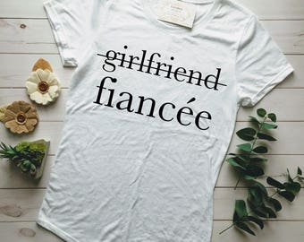 FIANCE SHIRT, FIANCEE Shirt, Married Af, Married Af Shirt, Just Married Shirts, Engaged Af, Engaged Af Shirt, Girlfriend Fiance, Engaged