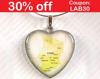 Chad map Etsy