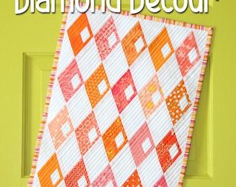 Mini Diamond Detour quilt pattern by Sassafras Lane Designs - mini quilt pattern, modern quilt, scrap quilt, modern mini