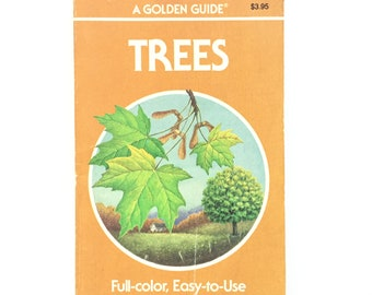 Trees- Vintage Golden Guide / Book on Trees / Golden Nature Guide / Vintage Field Guide / Homeschool Book / Science Book