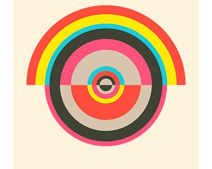 Around in Circles No. 5, Original Art Print, Geometric, Abstract, Target