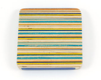Recycled Skateboard Square Drink Coaster