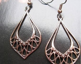 Copper Earrings CE141 - 2 inches long.